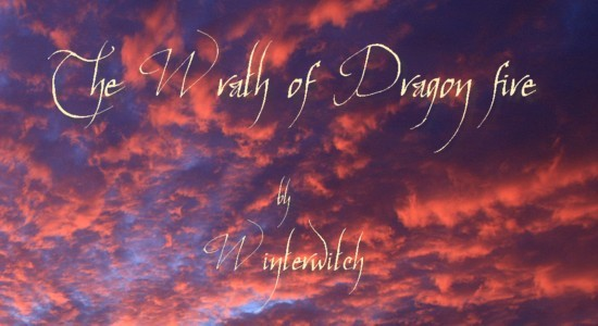 Title Banner showing fiery red clouds